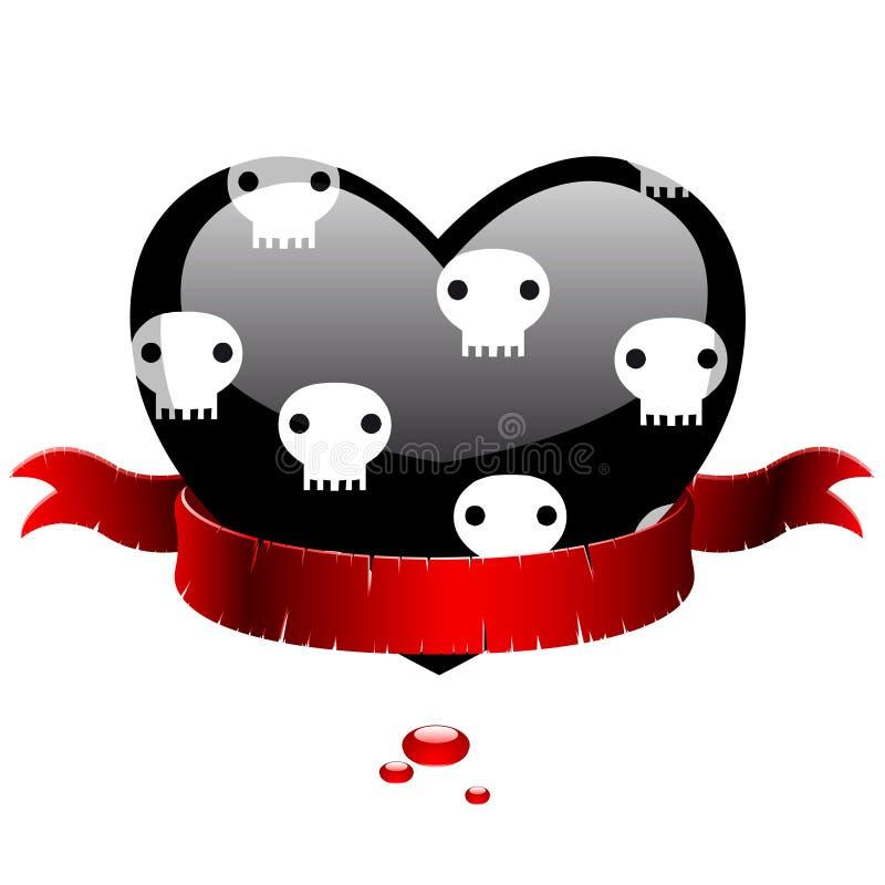 Download μαύρη κόκκινη κορδέλλα κα&r Διανυσματική απεικόνιση - εικονογραφία από σχέδιο, αγάπη: 13183107