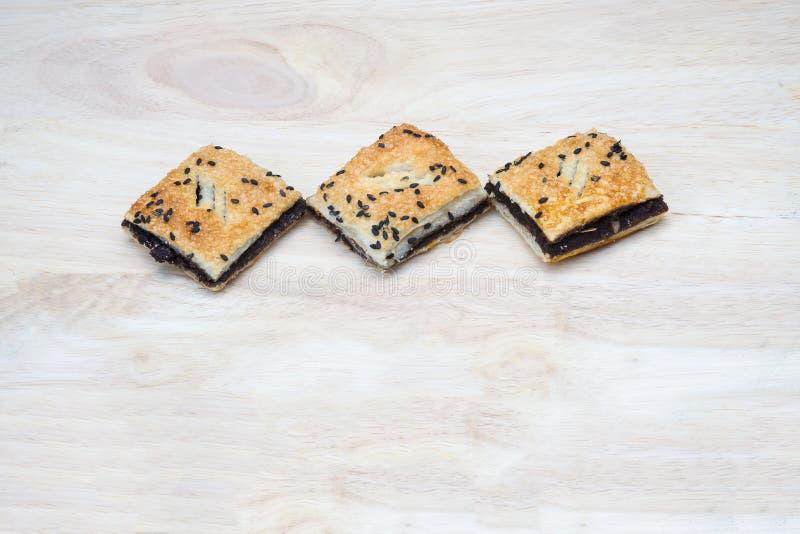 Μαύρη μίνι πίτα σουσαμιού στοκ εικόνες