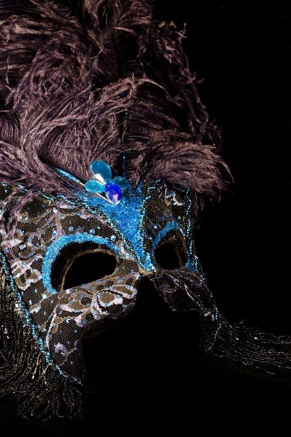 μαύρη μπλε μάσκα στοκ φωτογραφίες