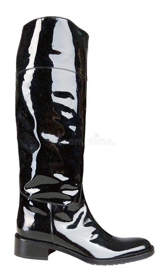 μαύρη μπότα womenstyle στοκ φωτογραφίες