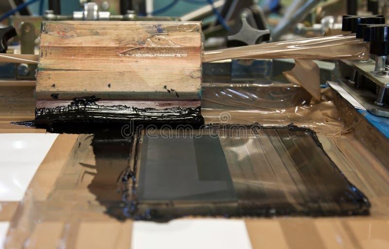 μαύρη οθόνη εκτύπωσης μελανιού στοκ εικόνες
