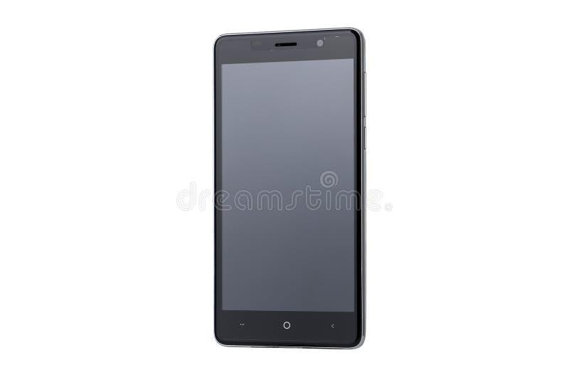 Μαύρη οθόνη του smartphone που απομονώνεται στο άσπρο υπόβαθρο στοκ φωτογραφία