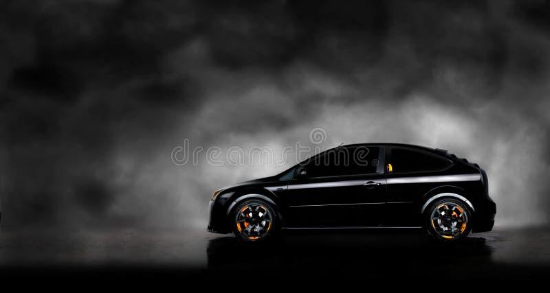 μαύρη ομίχλη αυτοκινήτων α&n στοκ φωτογραφία με δικαίωμα ελεύθερης χρήσης