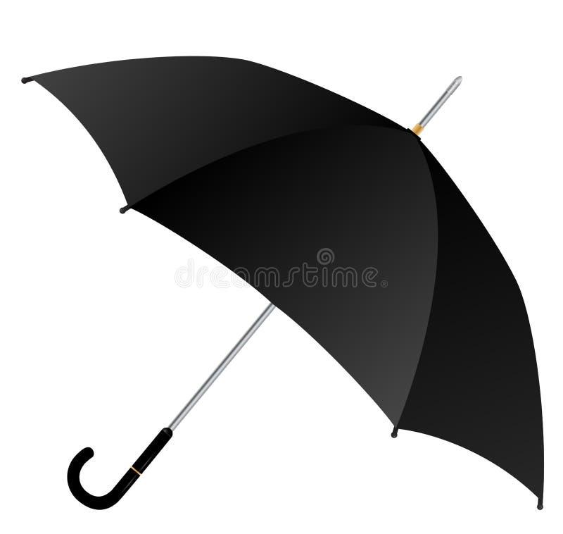 μαύρη ομπρέλα ελεύθερη απεικόνιση δικαιώματος