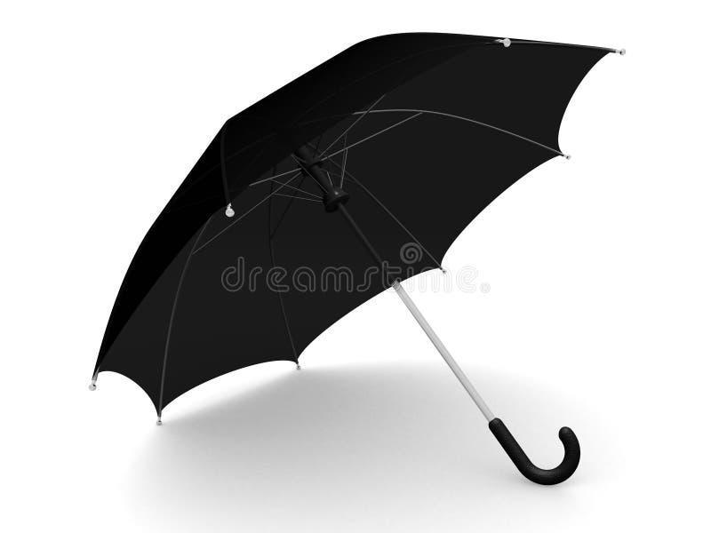 μαύρη ομπρέλα απεικόνιση αποθεμάτων