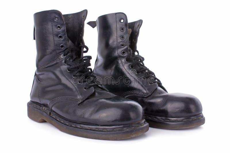 μαύρη παλαιά εργασία δέρματος μποτών στοκ φωτογραφία με δικαίωμα ελεύθερης χρήσης