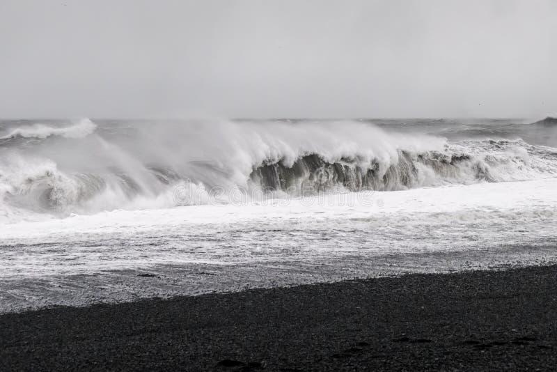 Μαύρη παραλία άμμου - Ισλανδία στοκ φωτογραφίες με δικαίωμα ελεύθερης χρήσης