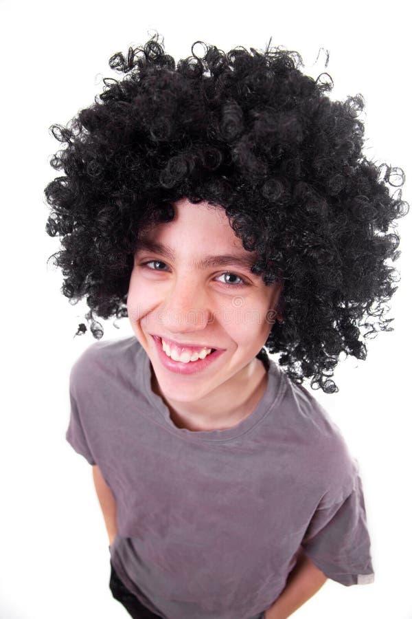 μαύρη περούκα χαμόγελου &alp στοκ εικόνα με δικαίωμα ελεύθερης χρήσης