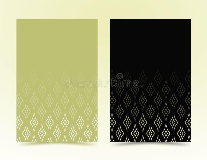 Μαύρη, πράσινη σύσταση γεωμετρικό σχέδιο στο μινιμαλιστικό ύφος κυματιστές Πράσινες Γραμμές που απομονώνονται στο μαύρο υπόβαθρο  διανυσματική απεικόνιση