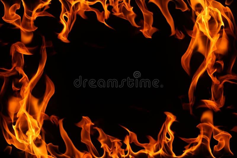 μαύρη πυρκαγιά brder ανασκόπησ&eta στοκ εικόνα