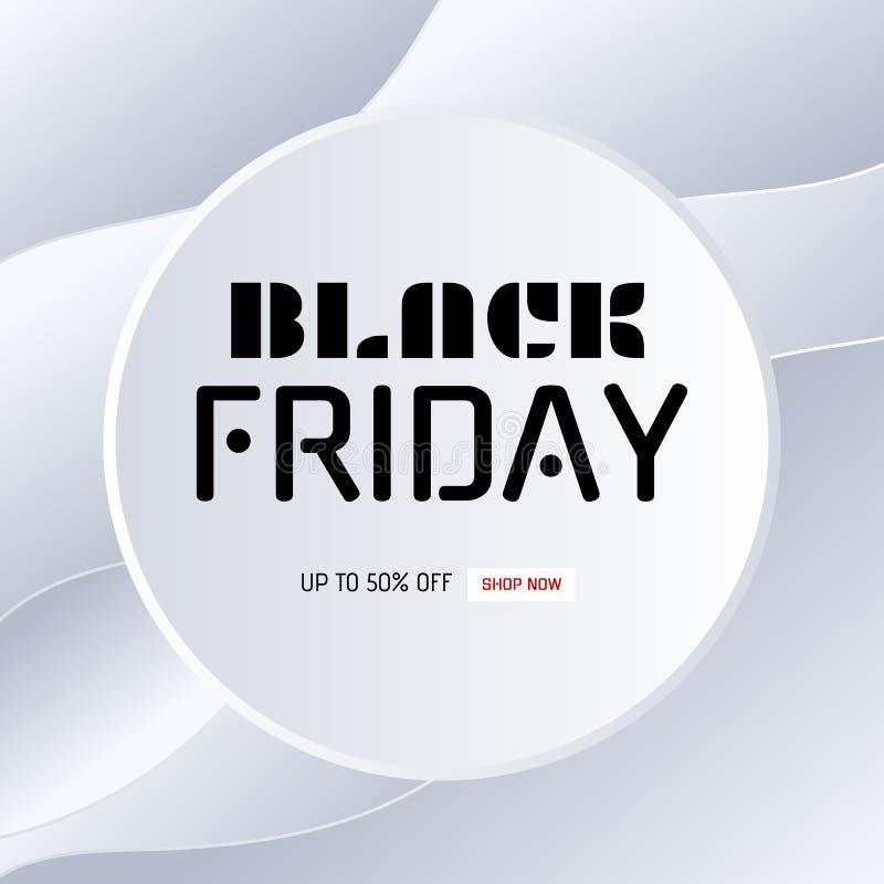 μαύρη πώληση Παρασκευής ε&m Λεκτική φυσαλίδα εγγράφου κύκλων στο άσπρο υπόβαθρο εγγράφου καμπυλών απεικόνιση αποθεμάτων