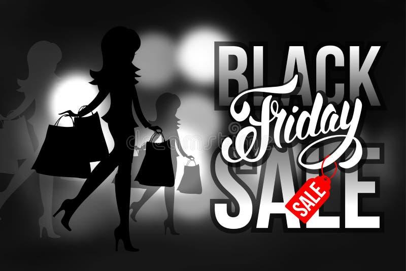 μαύρη πώληση Παρασκευής ελεύθερη απεικόνιση δικαιώματος