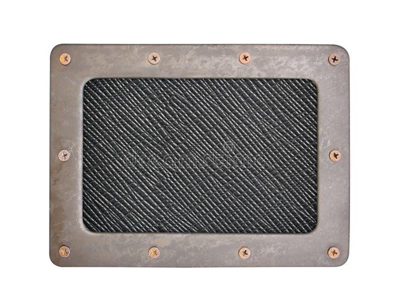 Μαύρη πλαστική επιφάνεια με το τραχύ πιάτο υποβάθρου με το πλαίσιο στοκ φωτογραφίες