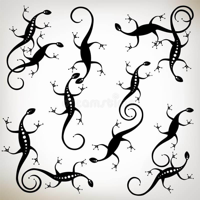 Download μαύρη σκιαγραφία σαυρών σ&upsil Διανυσματική απεικόνιση - εικονογραφία από σαύρα, νύχι: 17050277
