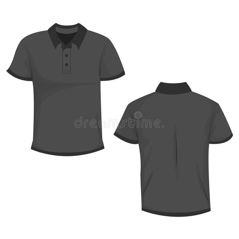 Μαύρη/σκούρο γκρι χλεύη μπλουζών πόλο επάνω απεικόνιση αποθεμάτων