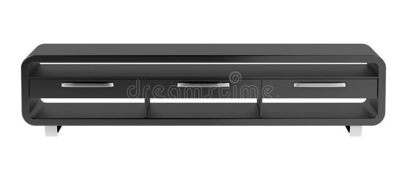 Μαύρη στάση TV διανυσματική απεικόνιση