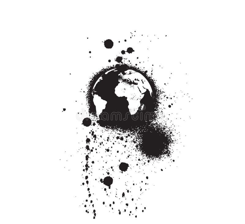 μαύρη σφαίρα grunge διανυσματική απεικόνιση