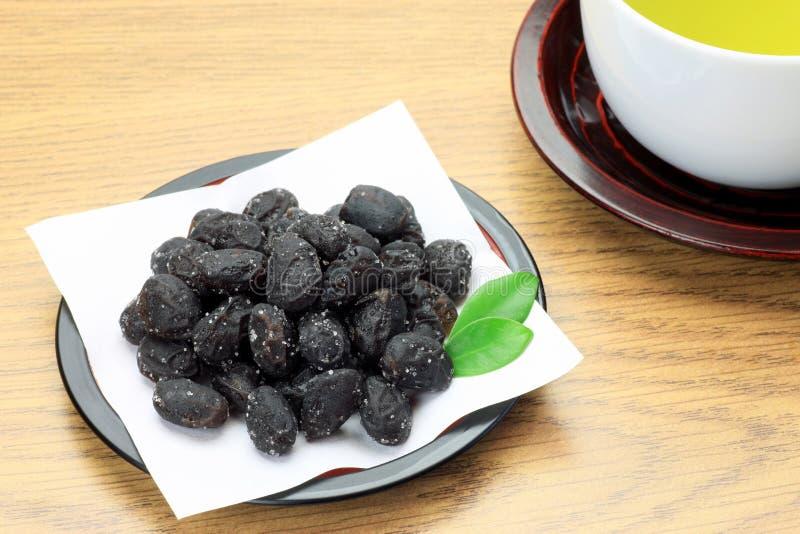 Μαύρη σόγια και πράσινο τσάι στοκ εικόνα με δικαίωμα ελεύθερης χρήσης