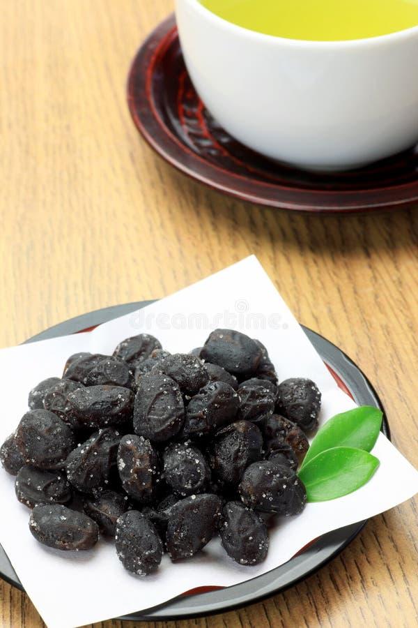 Μαύρη σόγια και πράσινο τσάι στοκ φωτογραφία με δικαίωμα ελεύθερης χρήσης