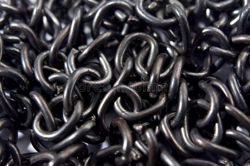 Μαύρη σύσταση αλυσίδων στοκ εικόνα με δικαίωμα ελεύθερης χρήσης