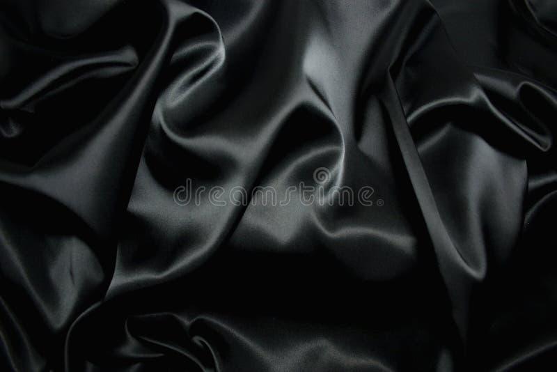 μαύρη σύσταση μεταξιού στοκ εικόνες με δικαίωμα ελεύθερης χρήσης