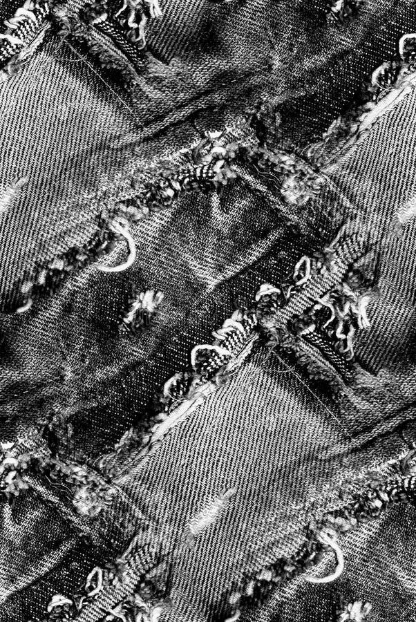 Μαύρη σύσταση τζιν - άνευ ραφής υπόβαθρο grunge απεικόνιση αποθεμάτων