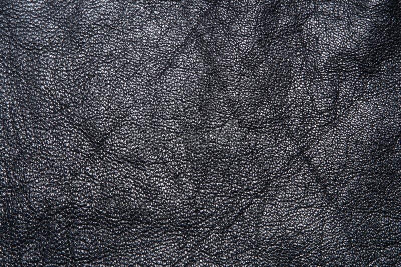 μαύρη σύσταση lether στοκ εικόνα με δικαίωμα ελεύθερης χρήσης