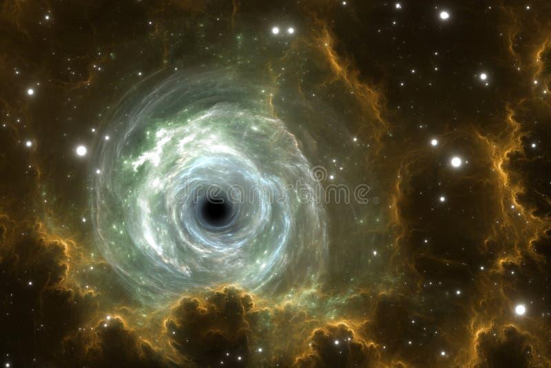 Μαύρη τρύπα στο νεφέλωμα, το βαρύτητας τομέα ή τη βαρύτητας ιδιομορφία απεικόνιση αποθεμάτων