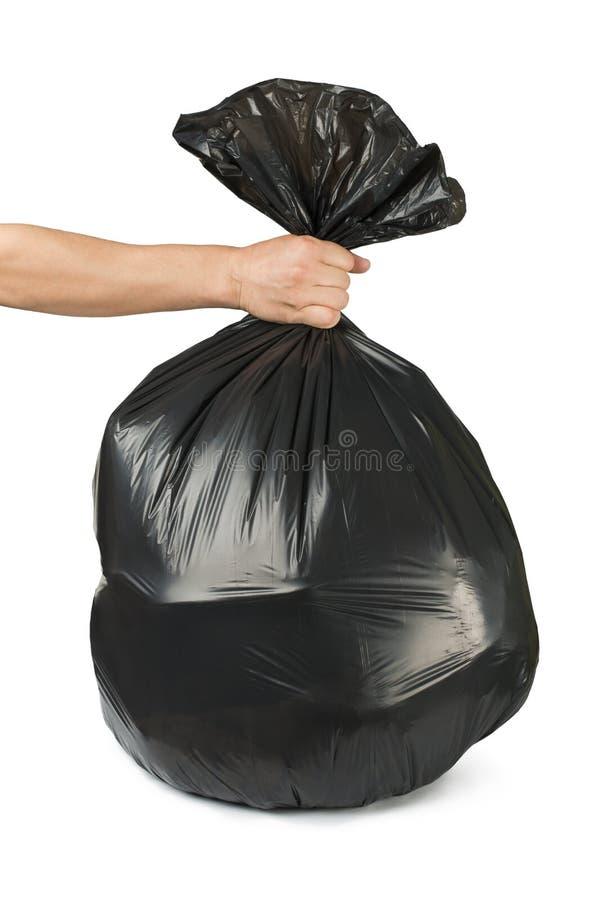 Μαύρη τσάντα των σκουπιδιών στοκ εικόνα με δικαίωμα ελεύθερης χρήσης