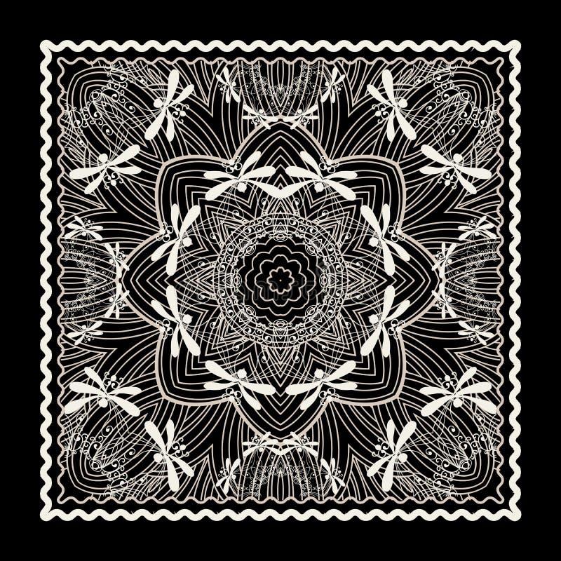 Μαύρη τυπωμένη ύλη bandana ελεύθερη απεικόνιση δικαιώματος