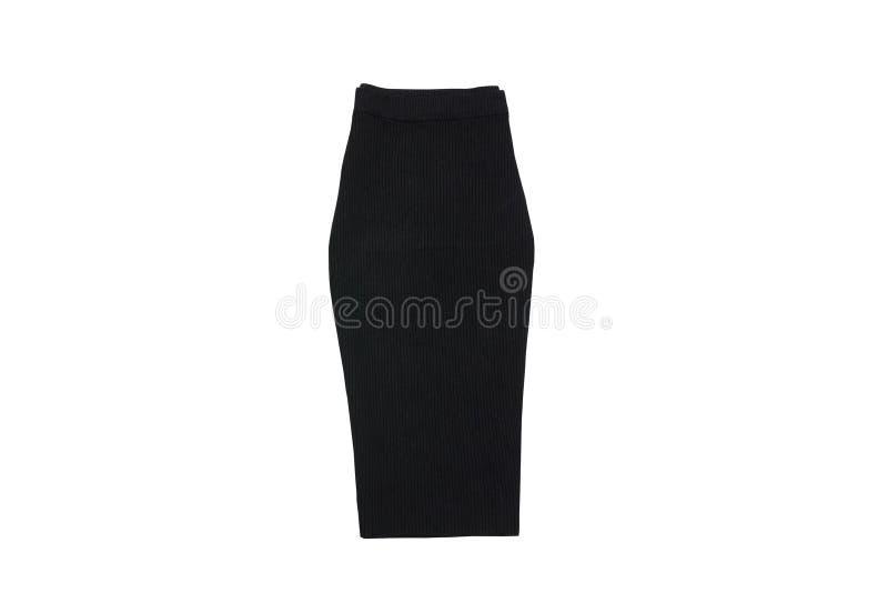 μαύρη φούστα μοντέρνη έννοια απομονωμένος Άσπρη ανασκόπηση στοκ φωτογραφία