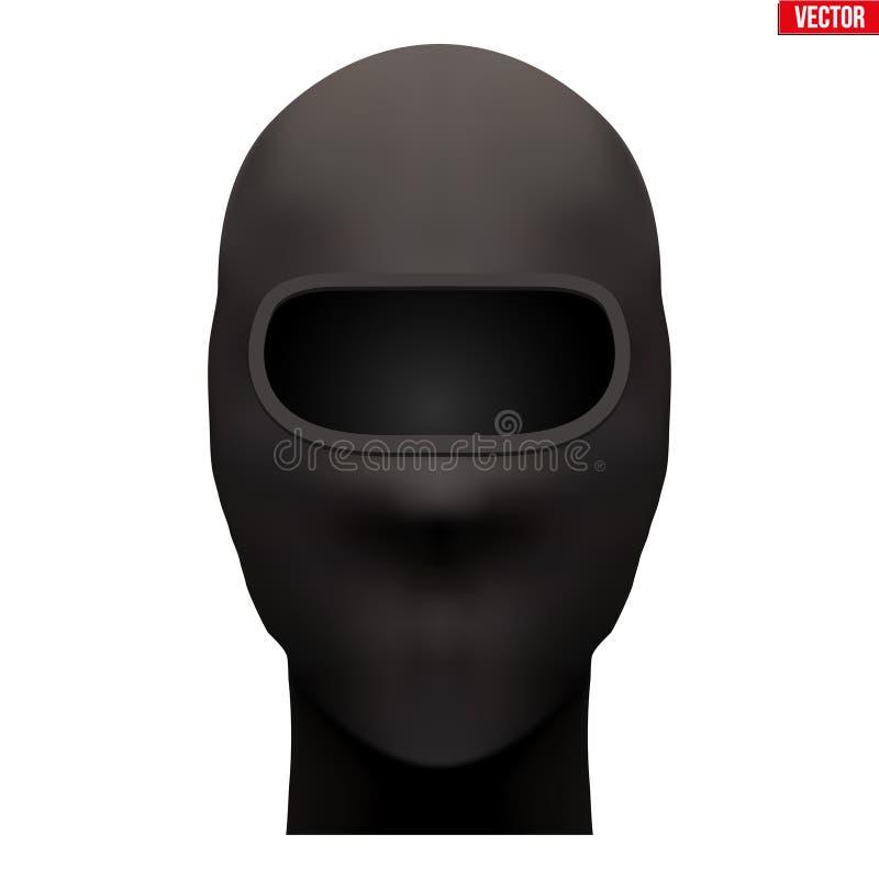 Μαύρη Balaclava μάσκα ΣΚΙ ελεύθερη απεικόνιση δικαιώματος