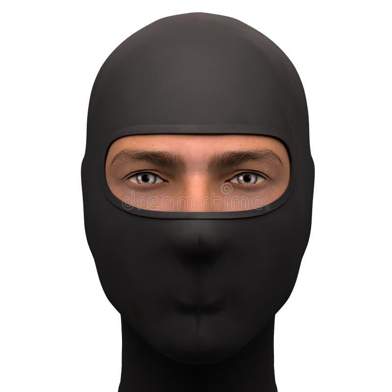 Μαύρη Balaclava μάσκα διανυσματική απεικόνιση