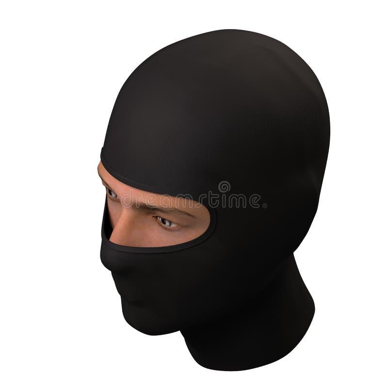 Μαύρη Balaclava μάσκα ελεύθερη απεικόνιση δικαιώματος