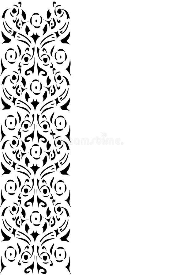 μαύρη floral διακοσμητική λου&r διανυσματική απεικόνιση