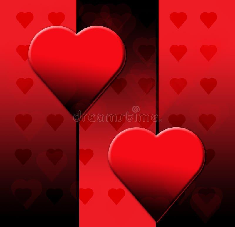 μαύροι βαλεντίνοι καρδιών ημέρας στοκ εικόνες