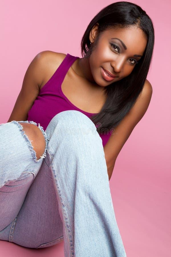 μαύρος έφηβος κοριτσιών στοκ εικόνες με δικαίωμα ελεύθερης χρήσης