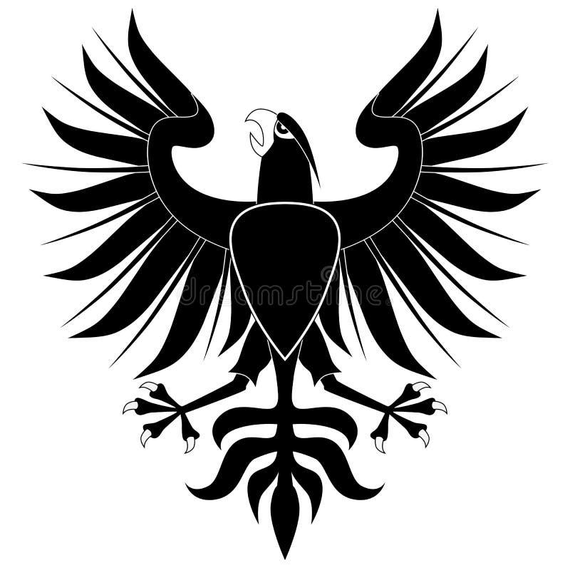 μαύρος αετός εραλδικός διανυσματική απεικόνιση