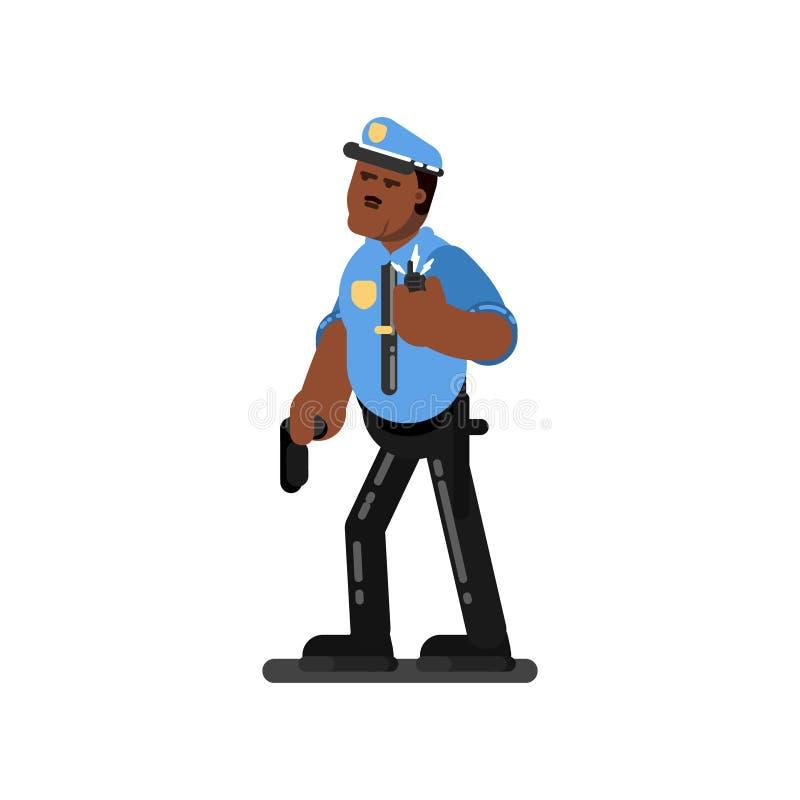 Μαύρος αστυνομικός διανυσματική απεικόνιση