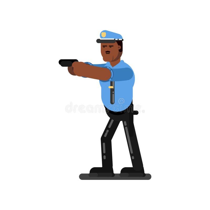 Μαύρος αστυνομικός απεικόνιση αποθεμάτων