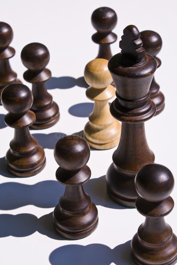 μαύρος βασιλιάς σκακιού  στοκ εικόνες