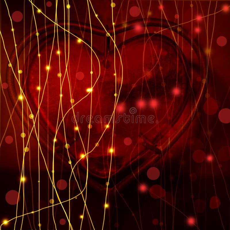 μαύρος βαλεντίνος καρδιών ημέρας ανασκόπησης ελεύθερη απεικόνιση δικαιώματος