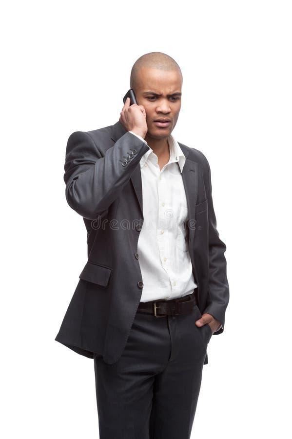 Μαύρος επιχειρηματίας στοκ φωτογραφίες με δικαίωμα ελεύθερης χρήσης
