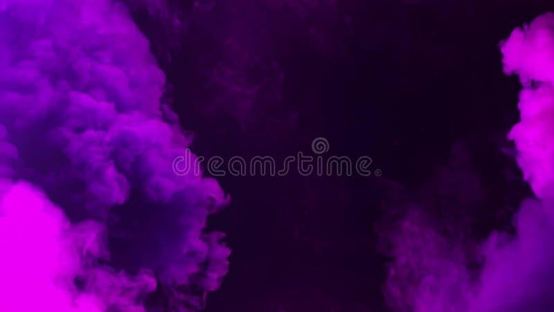 μαύρος ζωηρόχρωμος καπνός ανασκόπησης στοκ εικόνες