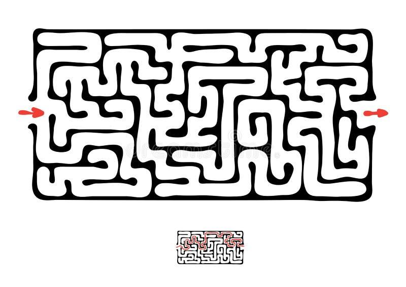 Μαύρος διανυσματικός λαβύρινθος ελεύθερη απεικόνιση δικαιώματος