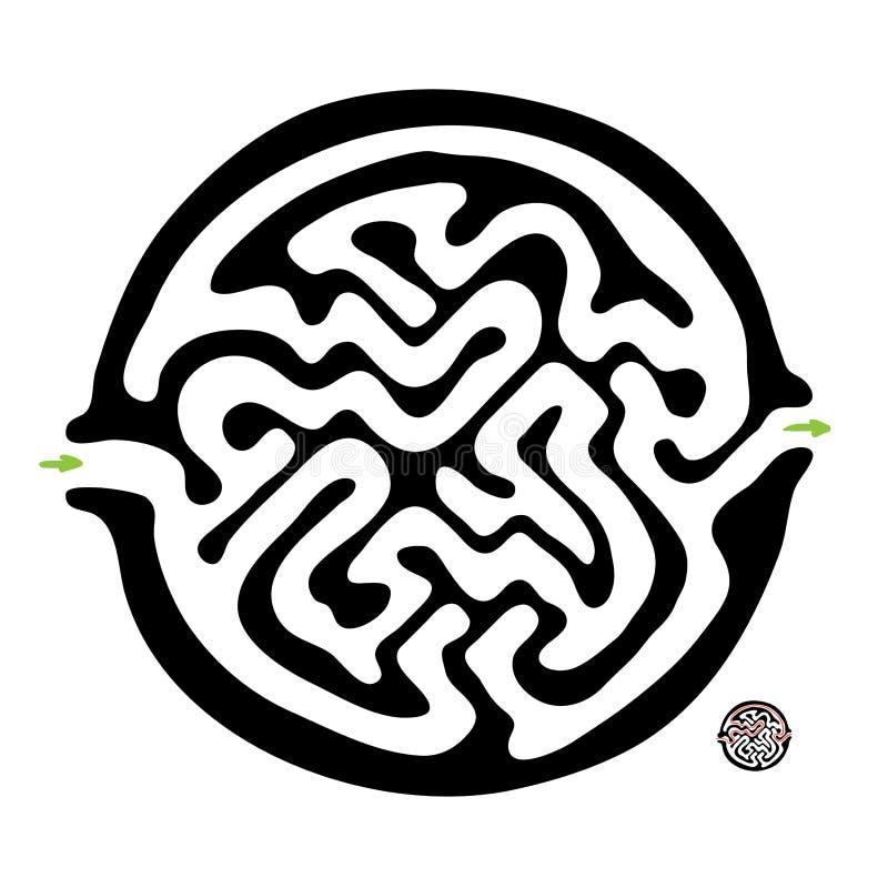 Μαύρος διανυσματικός λαβύρινθος απεικόνιση αποθεμάτων