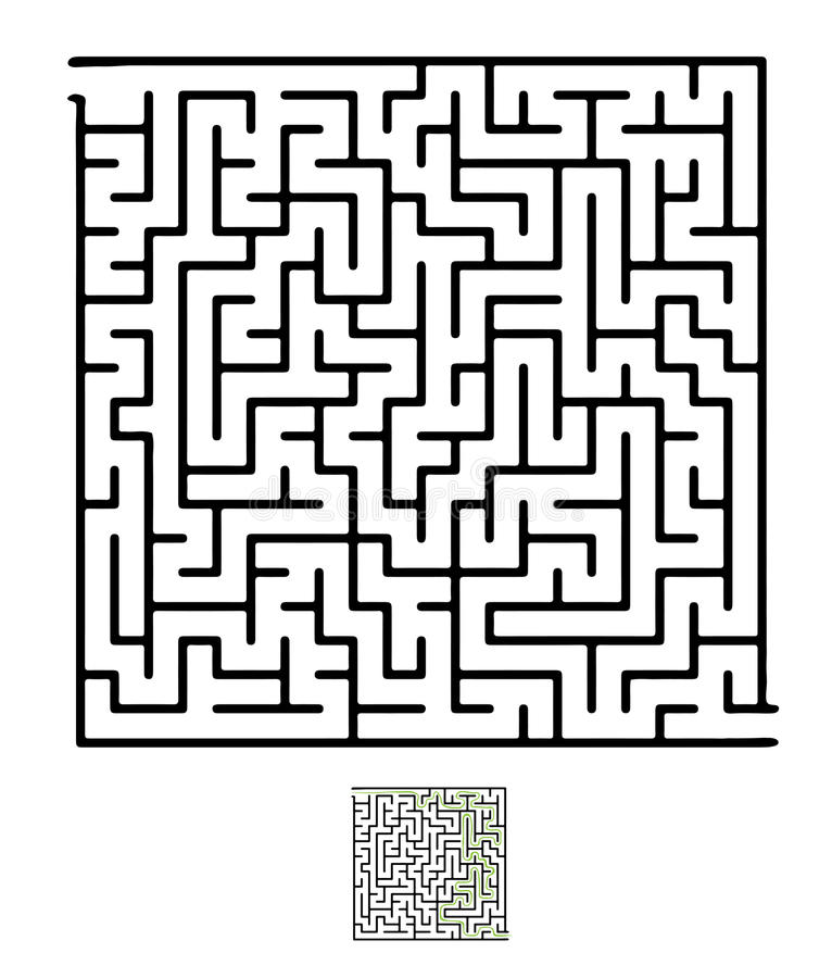 Μαύρος διανυσματικός λαβύρινθος διανυσματική απεικόνιση