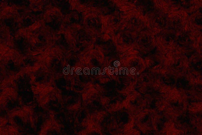 Μαύρος και κόκκινος αυξήθηκε κατασκευασμένο υπόβαθρο υφάσματος βελούδου στοκ εικόνες με δικαίωμα ελεύθερης χρήσης