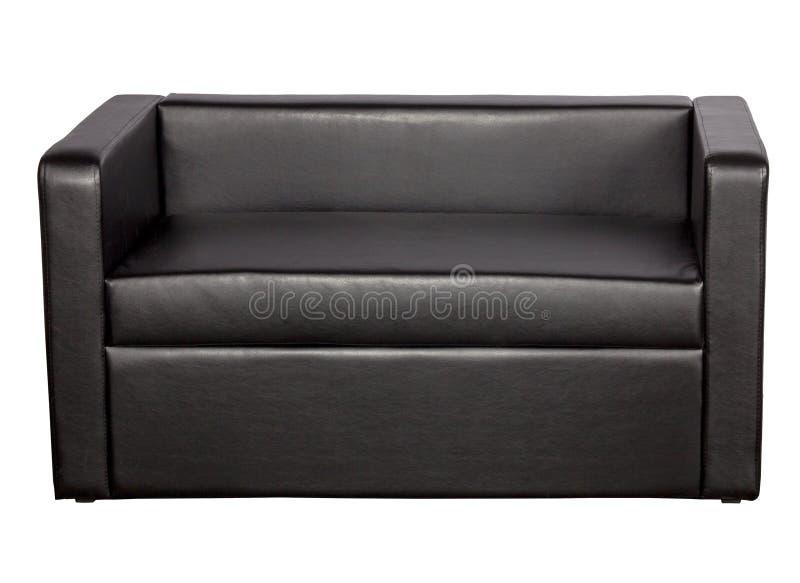 μαύρος καναπές δέρματος στοκ εικόνες