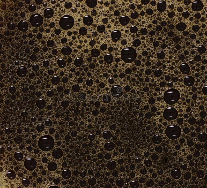 μαύρος καφές φυσαλίδων στοκ φωτογραφία